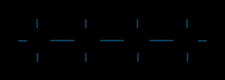 ブタン構造式
