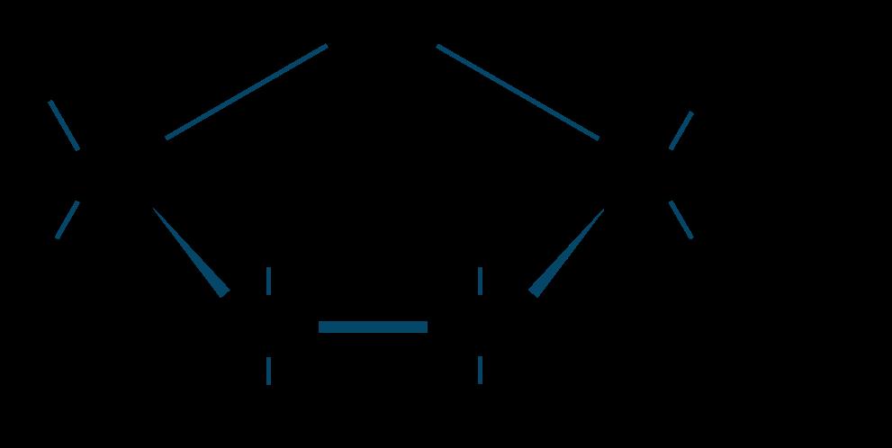 フルクトース五員環構造式