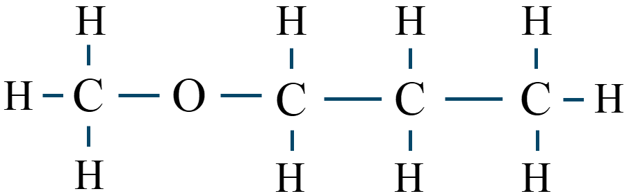 メチルプロピルエーテル構造式