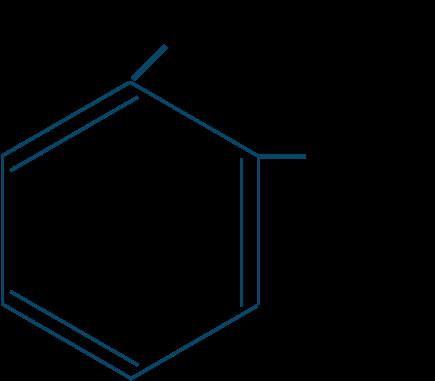 o-キシレン構造式