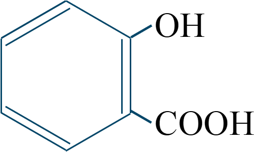 サリチル酸構造式