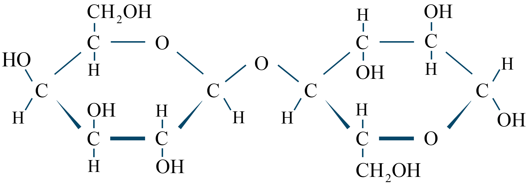 ラクトース構造式