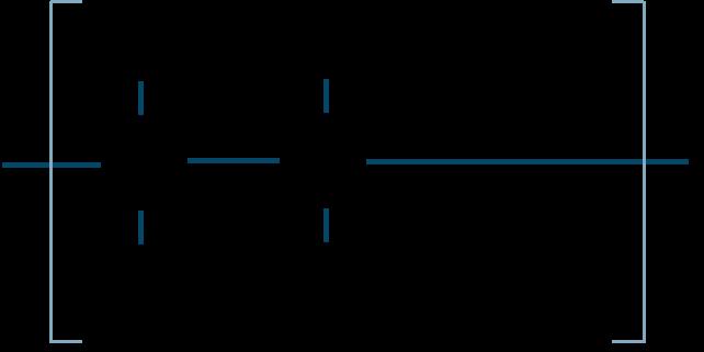 ポリ酢酸ビニル構造式
