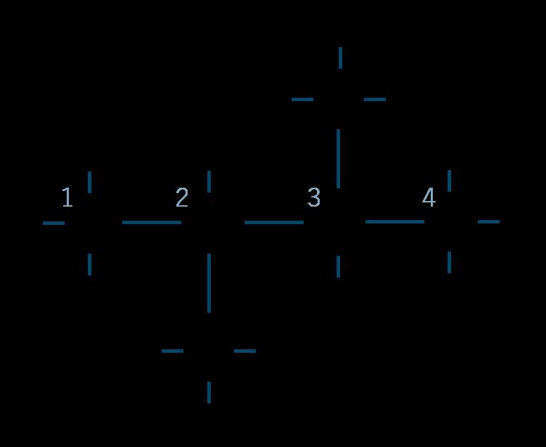 2,3-ジメチルブタン構造式