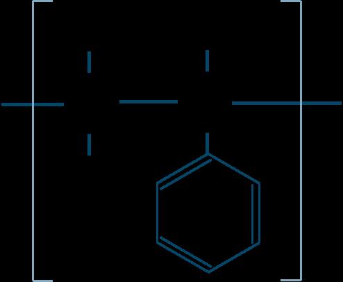 ポリスチレン構造式