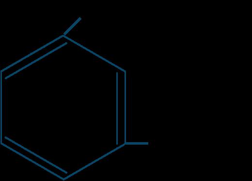 イソフタル酸構造式