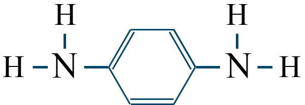 フェニレンジアミン構造式