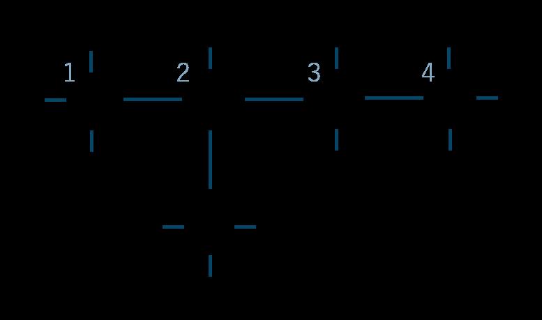2-メチルブタン構造式