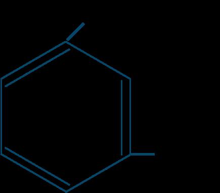 m-キシレン構造式