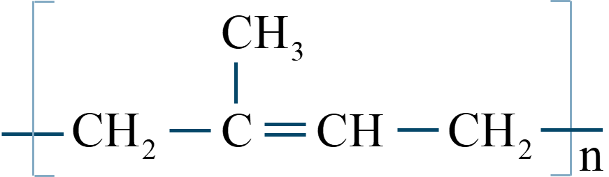 ポリイソプレン構造式