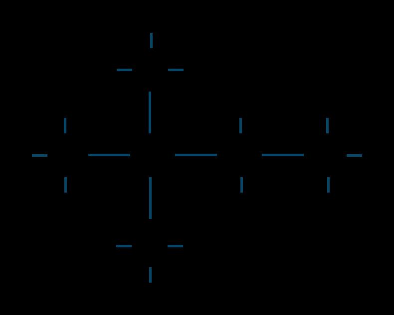2,2-ジメチルブタン構造式