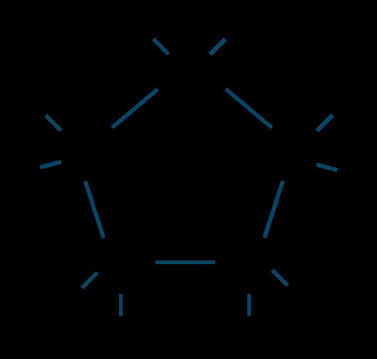 シクロペンタン構造式