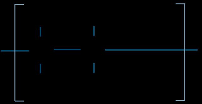 ポリメタクリル酸メチル構造式
