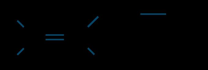 1-ブテン構造式
