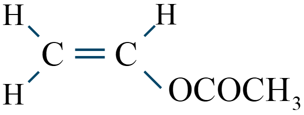 酢酸ビニル構造式
