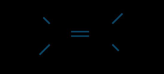 2-ブテン(トランス形)構造式