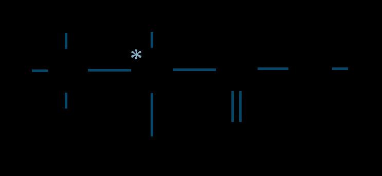 乳酸構造式