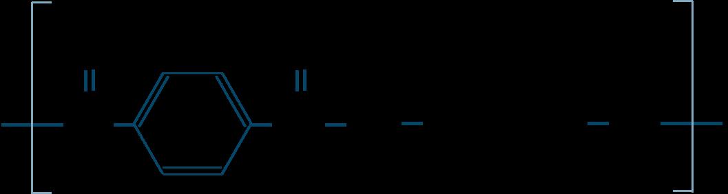ポリエチレンテレフタラート構造式