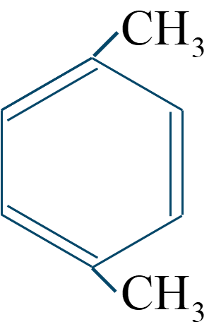 p-キシレン構造式